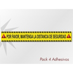 Pack 4 Adhesivos Franja...